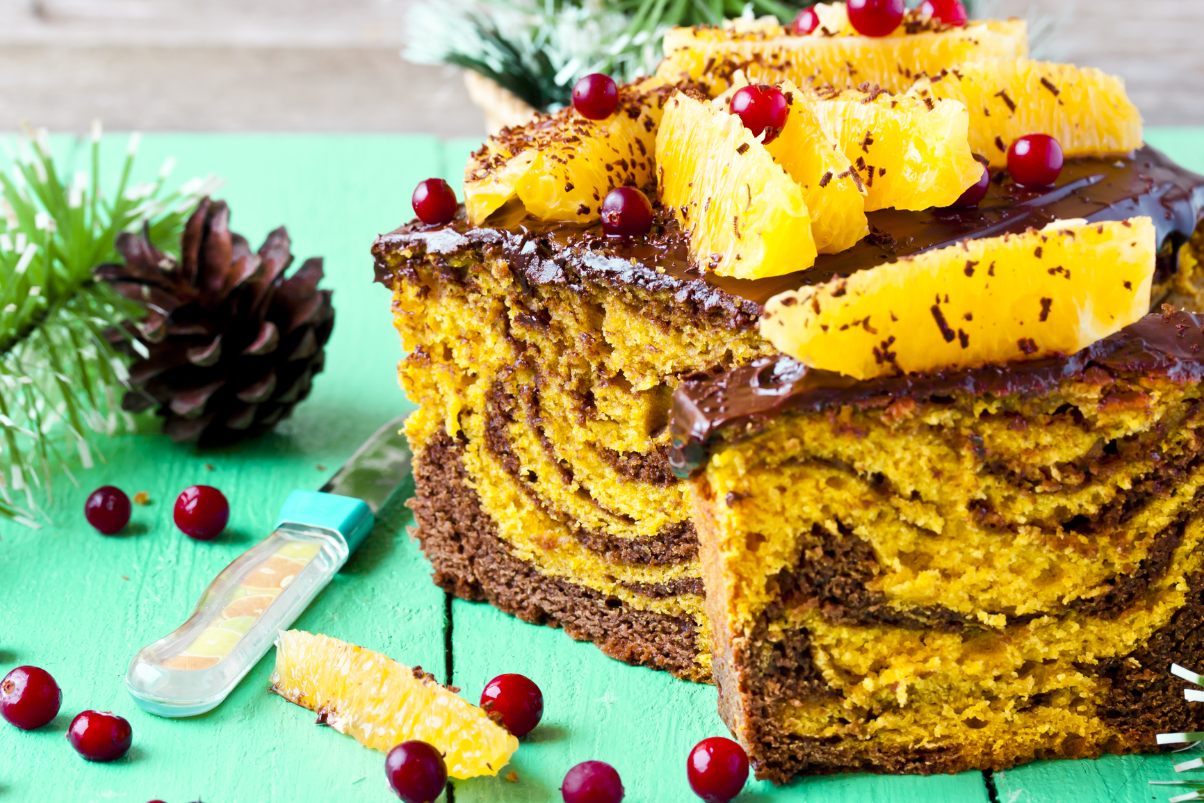 Пирожные шоколадно тыквенные
