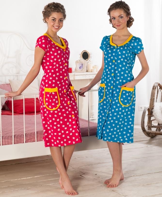 Трикотажные домашние халаты