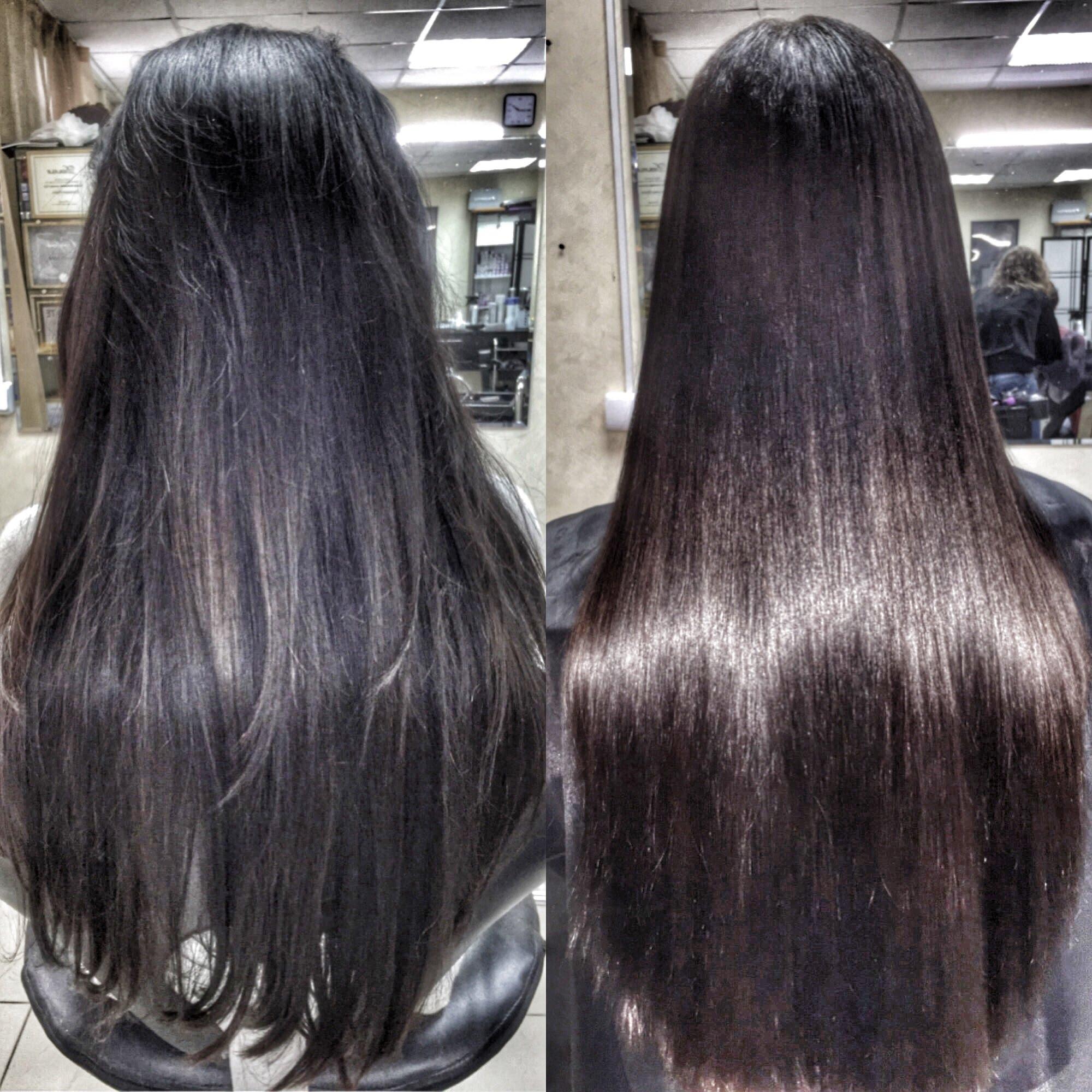 Кератиновое выпрямление волос от компании Brit Hair Group